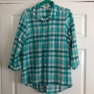 Habitat plaid blouse